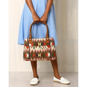 Twinology Multi Color Cotton Jacquard Handbag