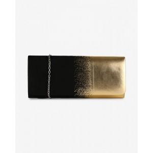 CARLTON LONDON Black Textured Clutch