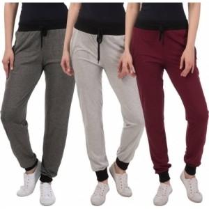 Dee Mannequin Multicolor Cotton Solid Track Pants