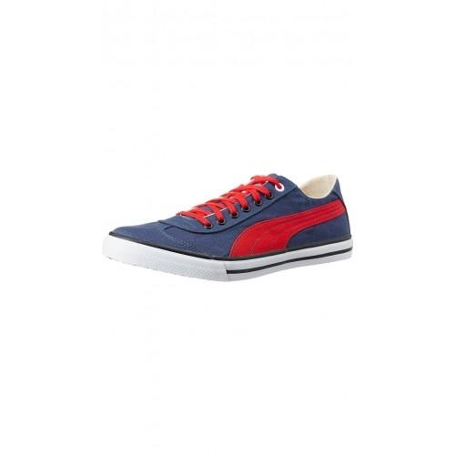 Puma 917 Lo 2 DP Navy Blue Denim Canvas Sneakers
