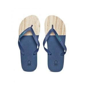 United Colors of Benetton Blue & Cream Eva Flip-Flops
