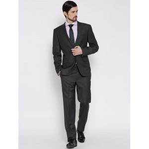 Brahaan BLUE TAG Charcoal Grey Single-Breasted Formal Suit