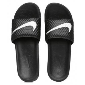 Nike Black Benassi SolarSoft Flipflops