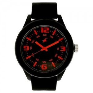 Fastrack Black Plastic Strap Analog Watch