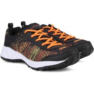 Terravulc Black Printed Sports Shoes For Men
