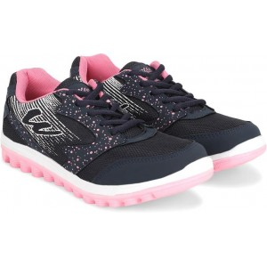 Asian Navy Blue & Pink Mesh Round  Toe Casual Shoes