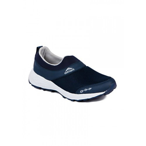 ASIAN Navy Blue Canvas Slip-on Running Sports Shoes