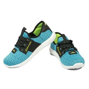 Asian Blue & Black Mesh Lace Up Sports Shoes