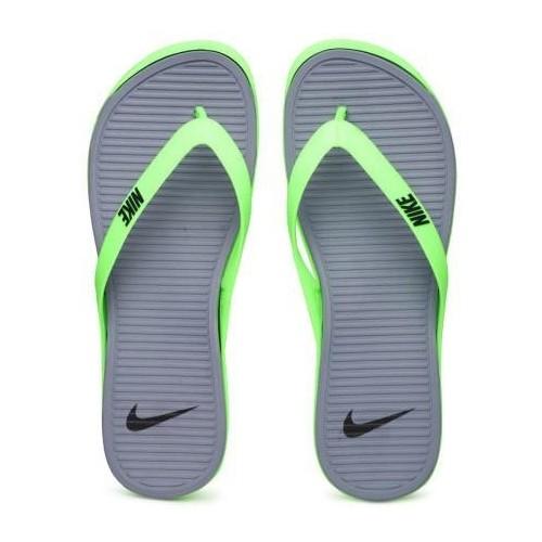 eaf41d6f65ed7 Buy Nike Gray   Mint Rubber Daily Wear Slippers online