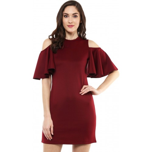aee3eb5172 Sassafras Women's Sheath Maroon Dress; Sassafras Women's Sheath Maroon Dress  ...