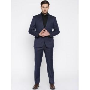 Park Avenue Navy Blue Single-Breasted Super Formal Suit