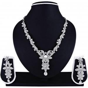 Atasi International Silver Alloy Neck Lace Set