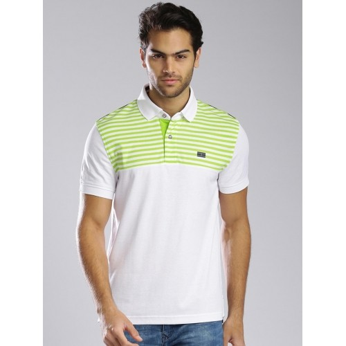 addb4dd2072 Buy Tommy Hilfiger Sport White Cotton Slim Fit Polo T-shirt online ...