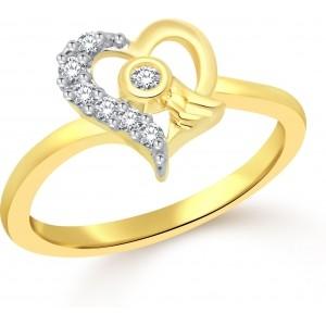 Golden Diamond Alloy Cubic Zirconia Ring