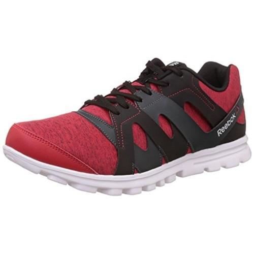 Reebok Run Essence Red & Grey Running Shoes