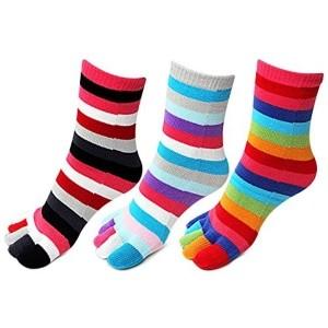 Bonjour Ladies 3 Pair Pack of Toe Socks