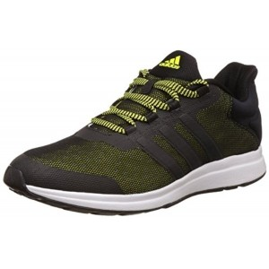 brand new 27edc ef5e2 Adidas Black  Green Lace Up Mens Running Shoes