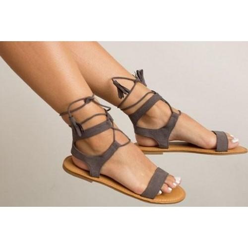 49a6b44c7bf Buy Street Style Store Gray Gladiator Sandal online