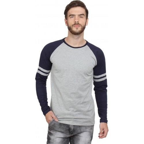 9daa80b1ce1e Buy SayItLoud Solid Men's Round Neck Grey, Blue T-Shirt online | Looksgud.in