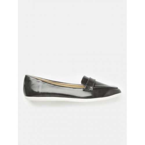 Home · Women · FootWear · Casual Shoes. Mast & Harbour Women Charcoal Grey  Pointy-Toed Loafers ...