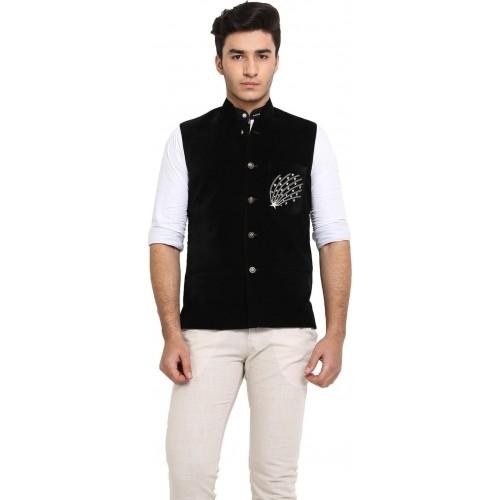 Protext Premium Black Sleeveless Solid Men's Modi Jacket