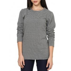 RUTE Black & Grey Fleece Long Sleeve Sweatshirt