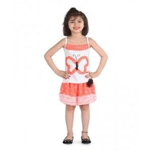 Posh Kids White Top & Skirt Set For Girls