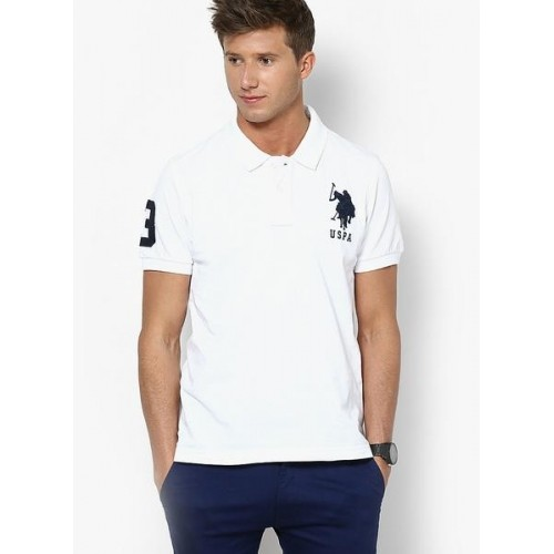 Buy U S Polo Assn White Polo T Shirt Online Looksgud In