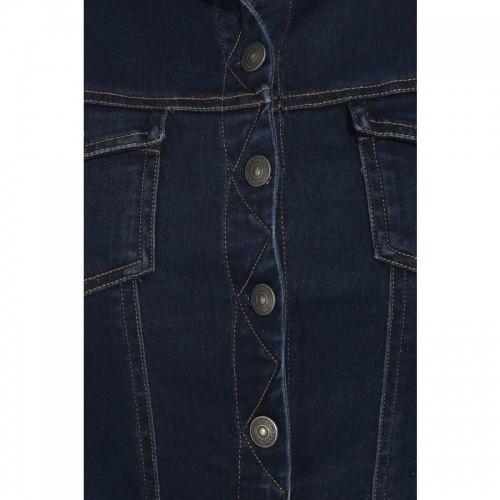 e6ee4e652bf Buy Amydus Plus Size Navy Blue Denim Jacket online