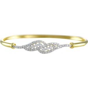 Zaveri Pearls Brass Cubic Zirconia Yellow Gold Bracelet