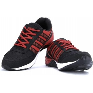 Terravulc Black & Red Low Ankle Running Shoes
