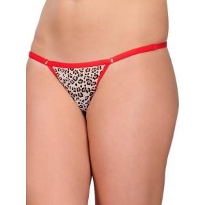Embibo Women's G-string Red Printed Panty