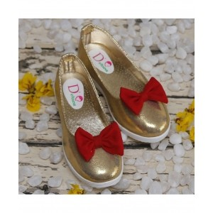 D'chica Golden Leather Solid Bellies