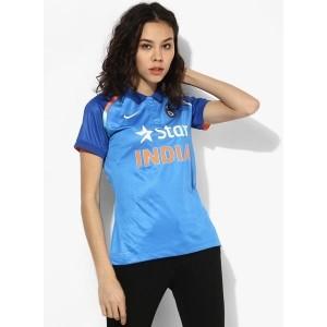 Nike Blue Polyester Cricket Stadium Jersey