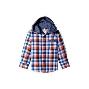 Nauti Nati Blue Checked Hooded Shirt
