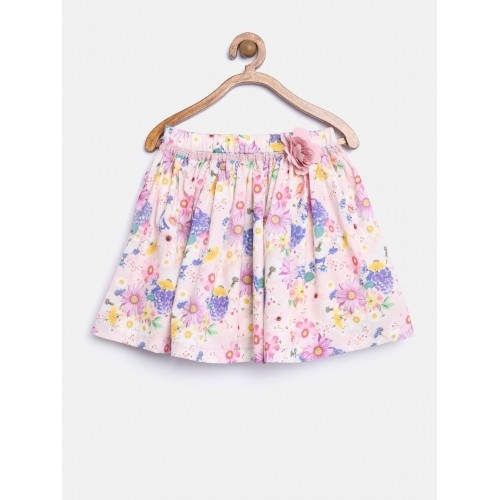 fae69c600e Buy Mothercare Girl's Pink Floral Print Flared Skirt online | Looksgud.in