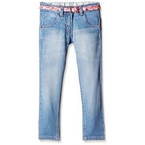 612 League Girl's Light Blue Washed Jeans