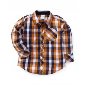 Babyhug Mustard & Blue Full Sleeves Check Shirt