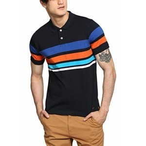 Abof Multicolor Cotton Regular Fit Polo T-Shirts