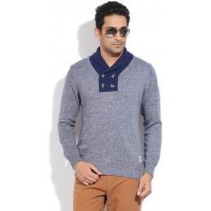 U.S.Polo.Assn Solid V-neck Casual Men's Sweater