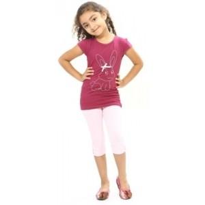 Bio Kid Baby Girl's Printed Top & Capri Set