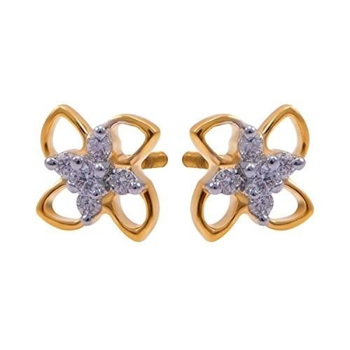 333922652 Buy Joyalukkas 18k Yellow Gold and Diamond Stud Earrings online ...