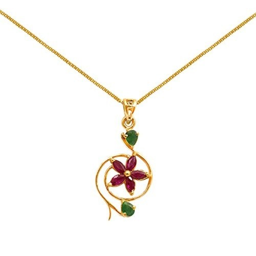 Buy joyalukkas savariya yellow gold and emerald pendant online joyalukkas savariya yellow gold and emerald pendant aloadofball Image collections