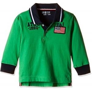Gini & Jony Green Full Sleeve Polo T-Shirt