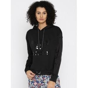 Adidas Originals Black Printed Hooded Sweatshirt