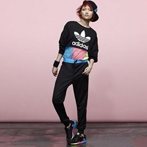 Adidas Originals Black Cotton Solid Women's Track Pants