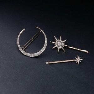 Pipa Bella Golden Set of 3 Embellished Hair Pins