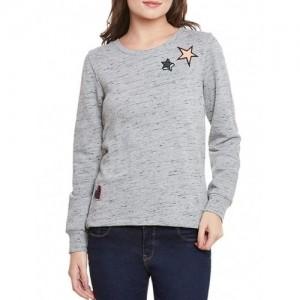 CHERYMOYA grey fleece sweatshirt