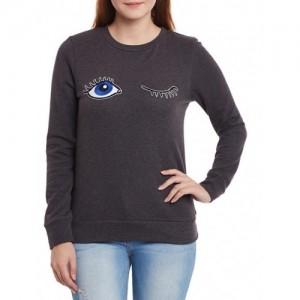 CHERYMOYA grey acrylic sweatshirt