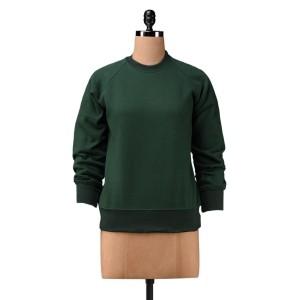 finesse Green Cotton Fleece Sweatshirt